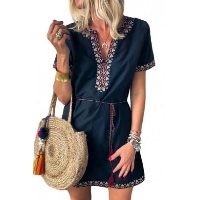 Női kék nyári ruha CLARINA