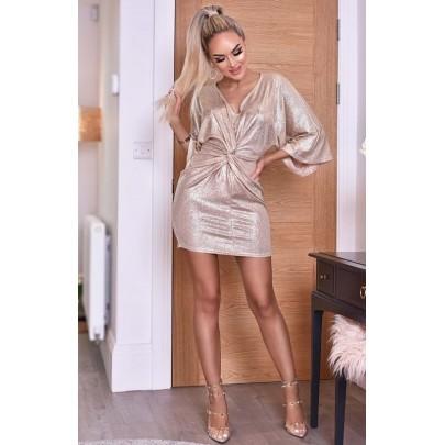 Női champagne ruha TEODORA