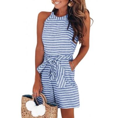 Női kék kényelmes nyári overall