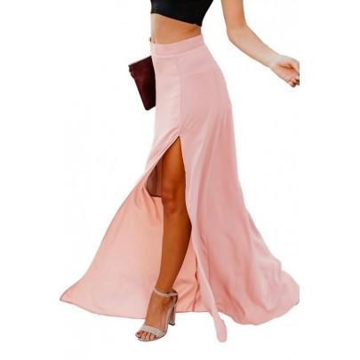 Női hosszú rózsaszín szoknya