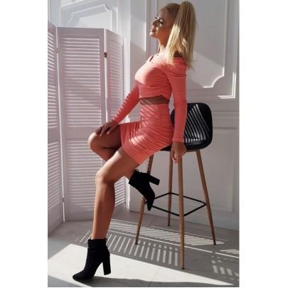 Női trendi szett rózsaszín színben