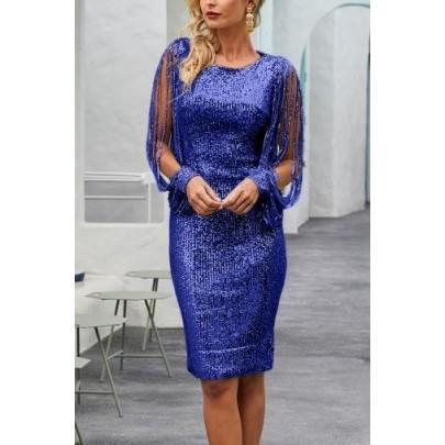 Női elegáns kék ruha MARCELLA