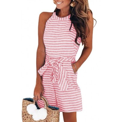 Női rózsaszín kényelmes nyári overall