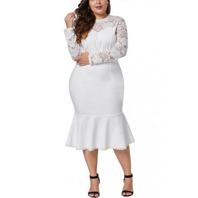 Fehér női plusz size ruha