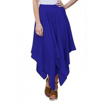 Női szabálytalan szoknya - kék