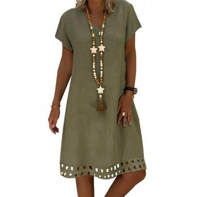 Női olíva zöld ruha BETTA