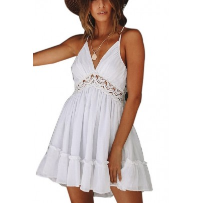 Női fehér nyári mini ruha VIOLETTA