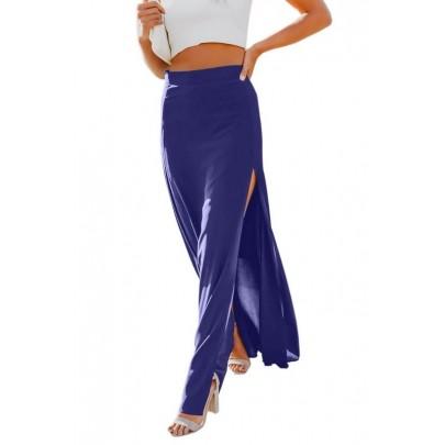 Női hosszú kék szoknya