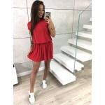 Női piros ruha Cinzia