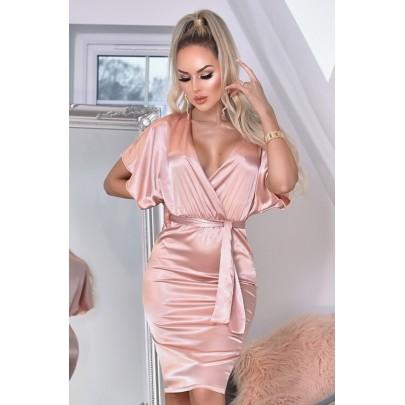 Női rózsaszín ruha ELVERA