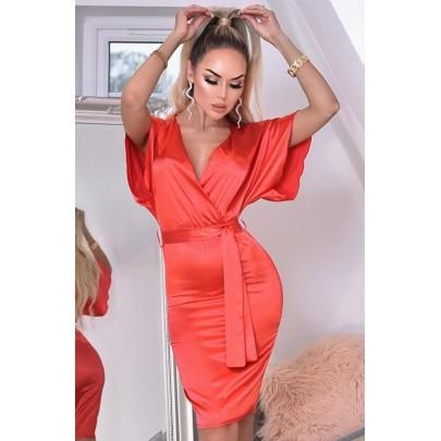 Női piros ruha ELVERA
