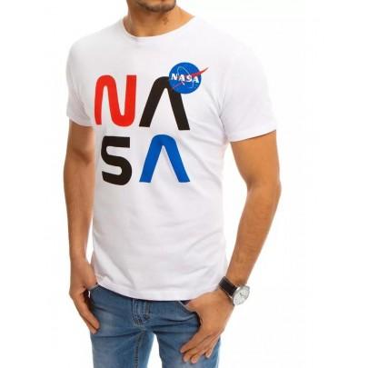 Fehér férfi póló felirattal NASA RX4552