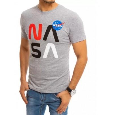 Szürke férfi póló felirattal NASA RX4554