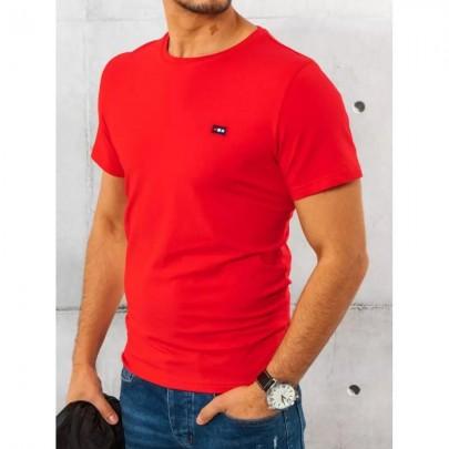 Szép piros férfi póló RX4559