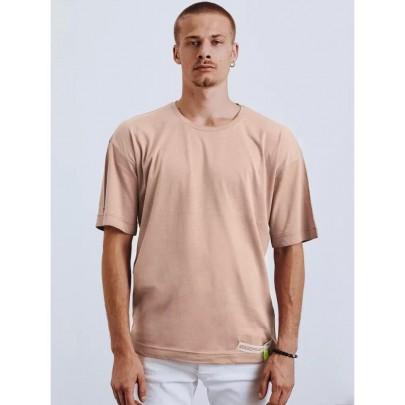Halvány barna férfi póló rátéttel RX4620