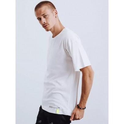 Fehér férfi póló rátéttel RX4621