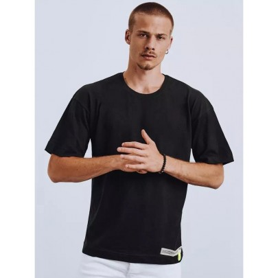 Fekete férfi póló rátéttel RX4622