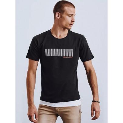 Modern fekete férfi póló RX4649