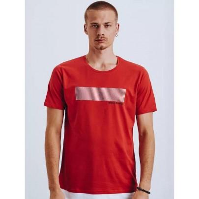 Modern piros férfi póló RX4651