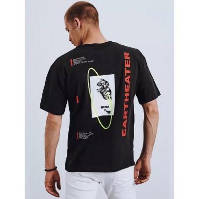 Fekete stílusos férfi póló RX4657