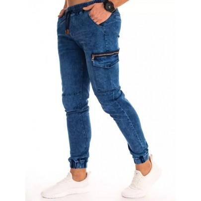 Kék divatos férfi jogger farmernadrág UX2994