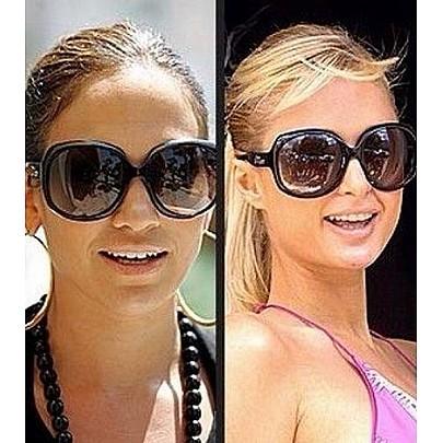 Női napszemüveg OVERSIZE - fekete