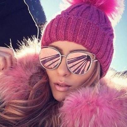 Női napszemüveg Vivien rózsaszín tükör