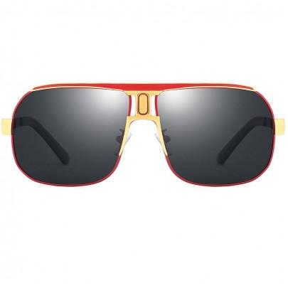 Polarizált pilóta napszemüveg Roy piros