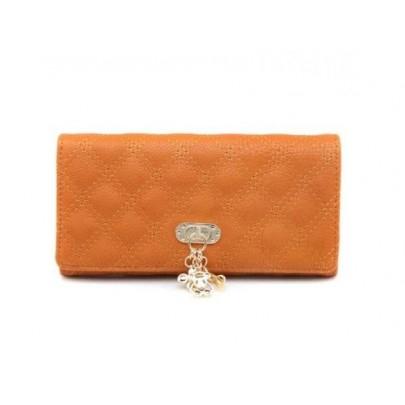 Női pénztárca medállal barna
