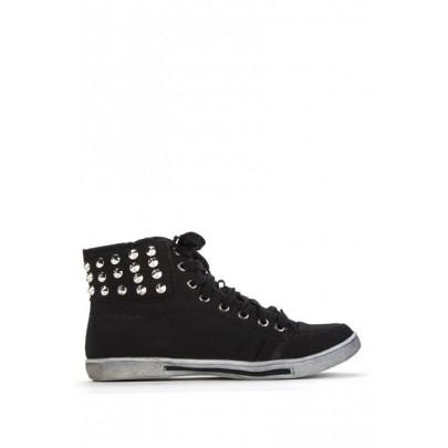 Női tüskés sportcipő - fekete