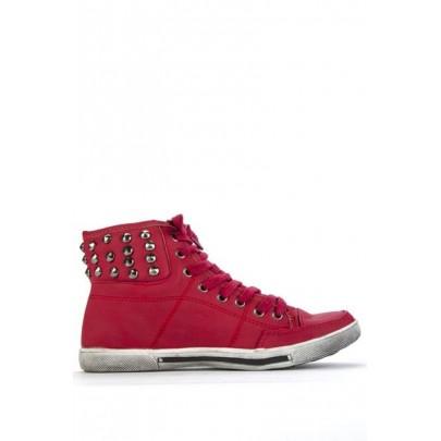 Női tüskés sportcipő - piros