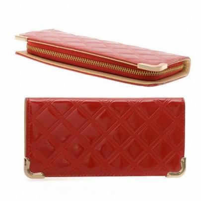 Stílusos pénztárca - piros