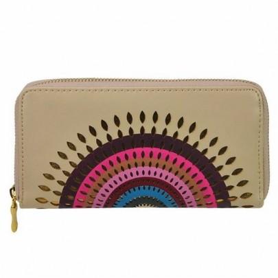Stílusos pénztárca Aztec bézs