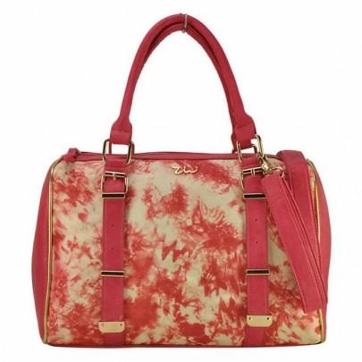 Virágos táska - rózsaszín