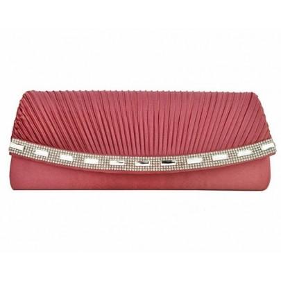 Női estélyi/levél táska - rózsaszín