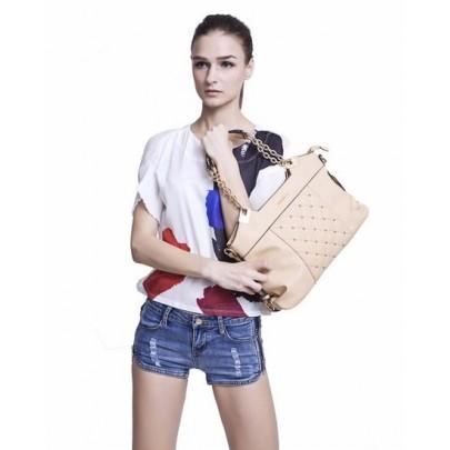 Stílusos táska - barack színű