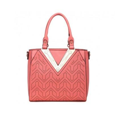Exkluzív táska mintával - rózsaszín