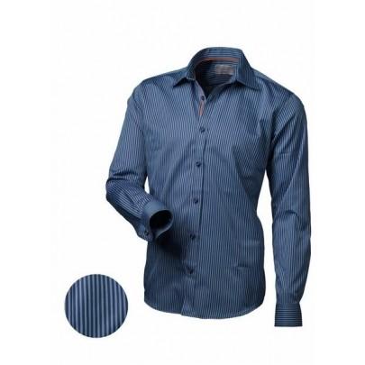 Férfi csíkos kék ing