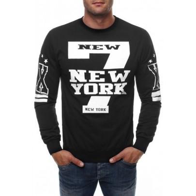 Férfi pulóver NY - fekete