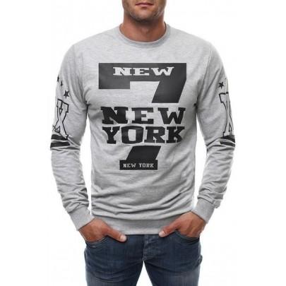 Férfi pulóver NY - szürke
