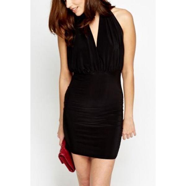 Női fekete Emmaline alkalmi ruha