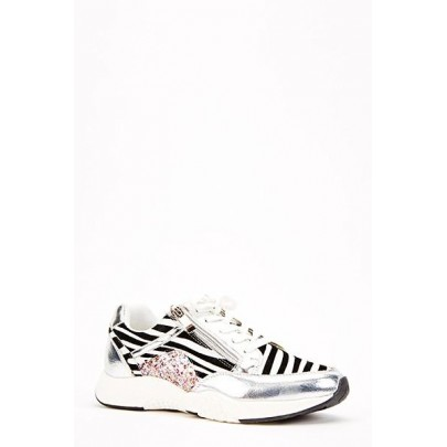 Női sportcipő Sport zebra
