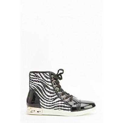 Női sportcipő Zebra