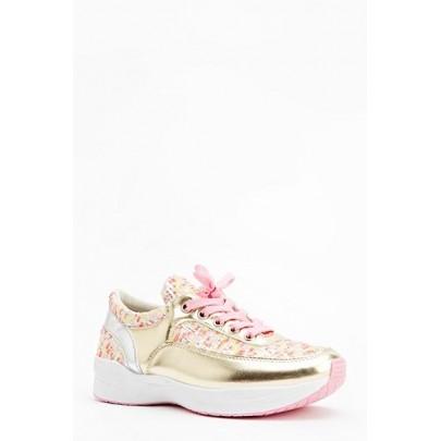 Női sportcipő Mettalic - rózsaszín arany