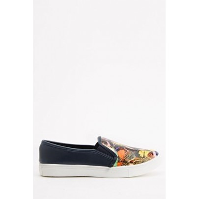 Női Slip On cipő - kék