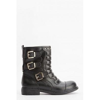 Női csizma Boots fekete