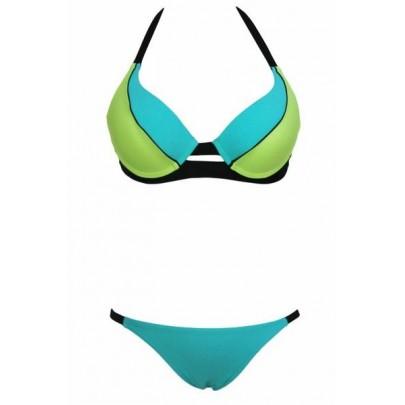 Női fürdőruha - kék zöld