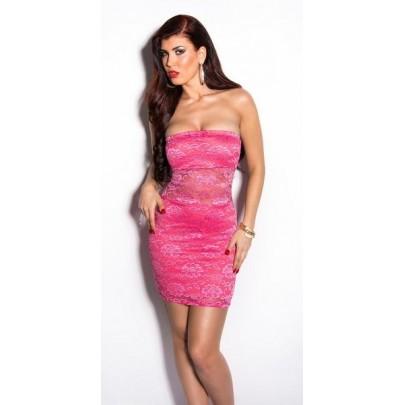 Rózsaszín csipkés ruha Giavanna