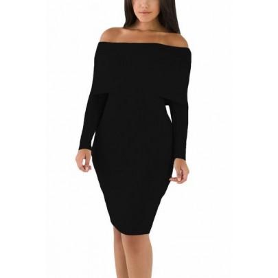 Fekete kötött Maliah ruha