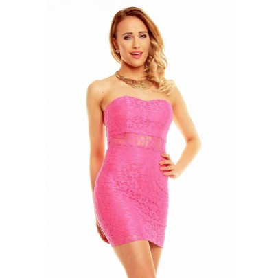 Női rózsaszín csipkés Donatella ruha